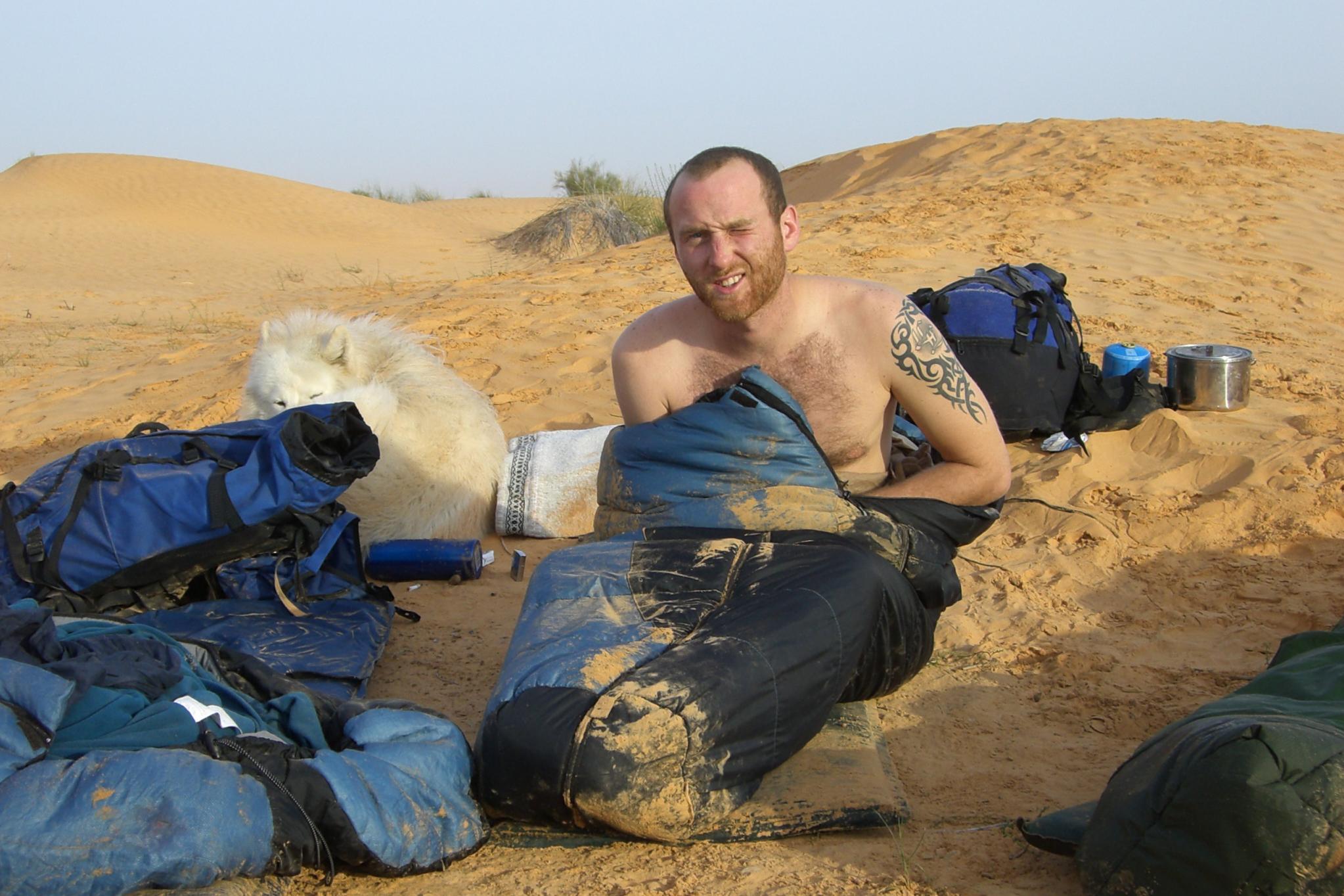 Wüste Schlafsack