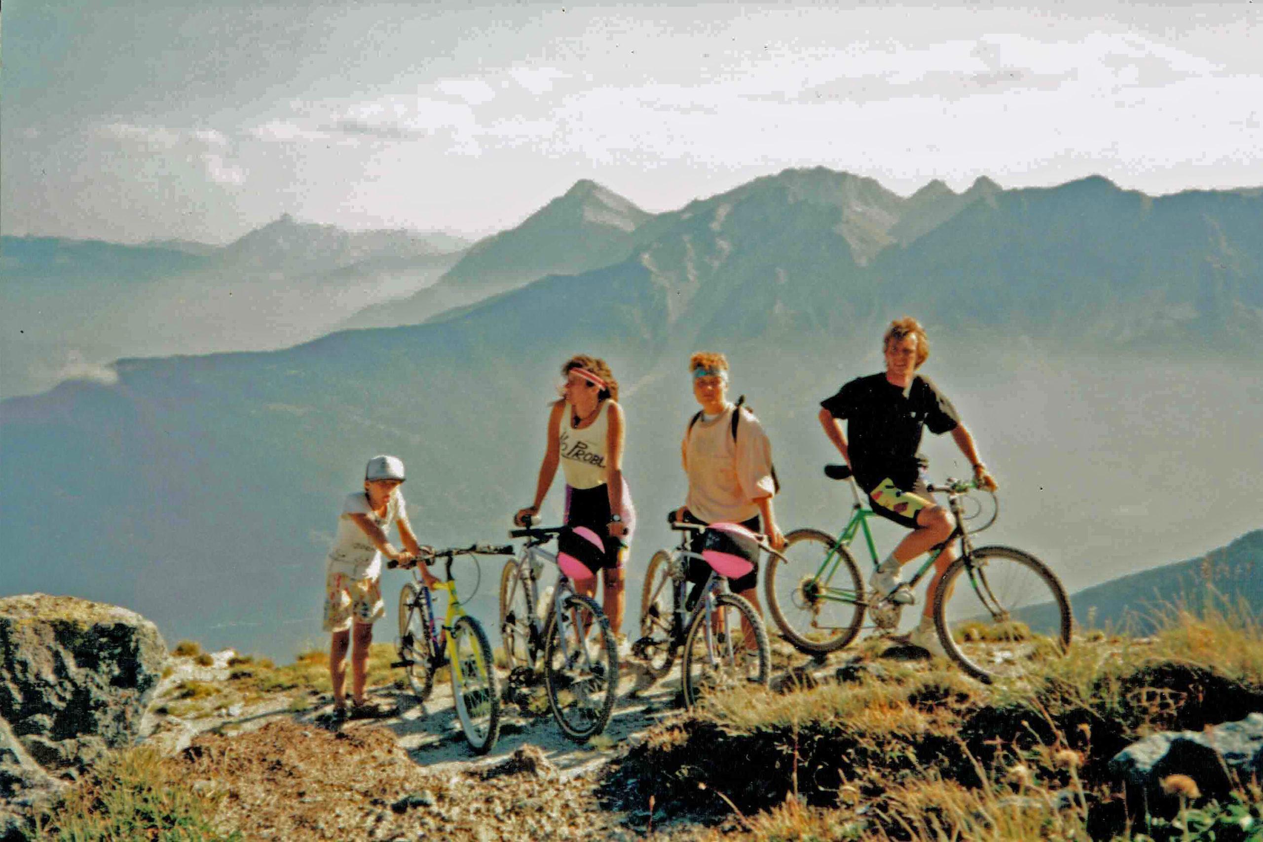 Radtour am Berg mit Kindern