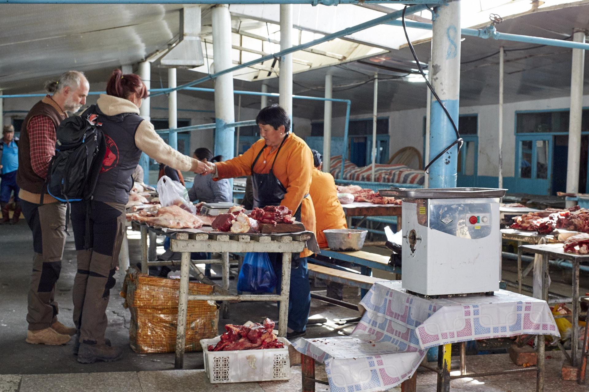Fleischmarkt Mongolei