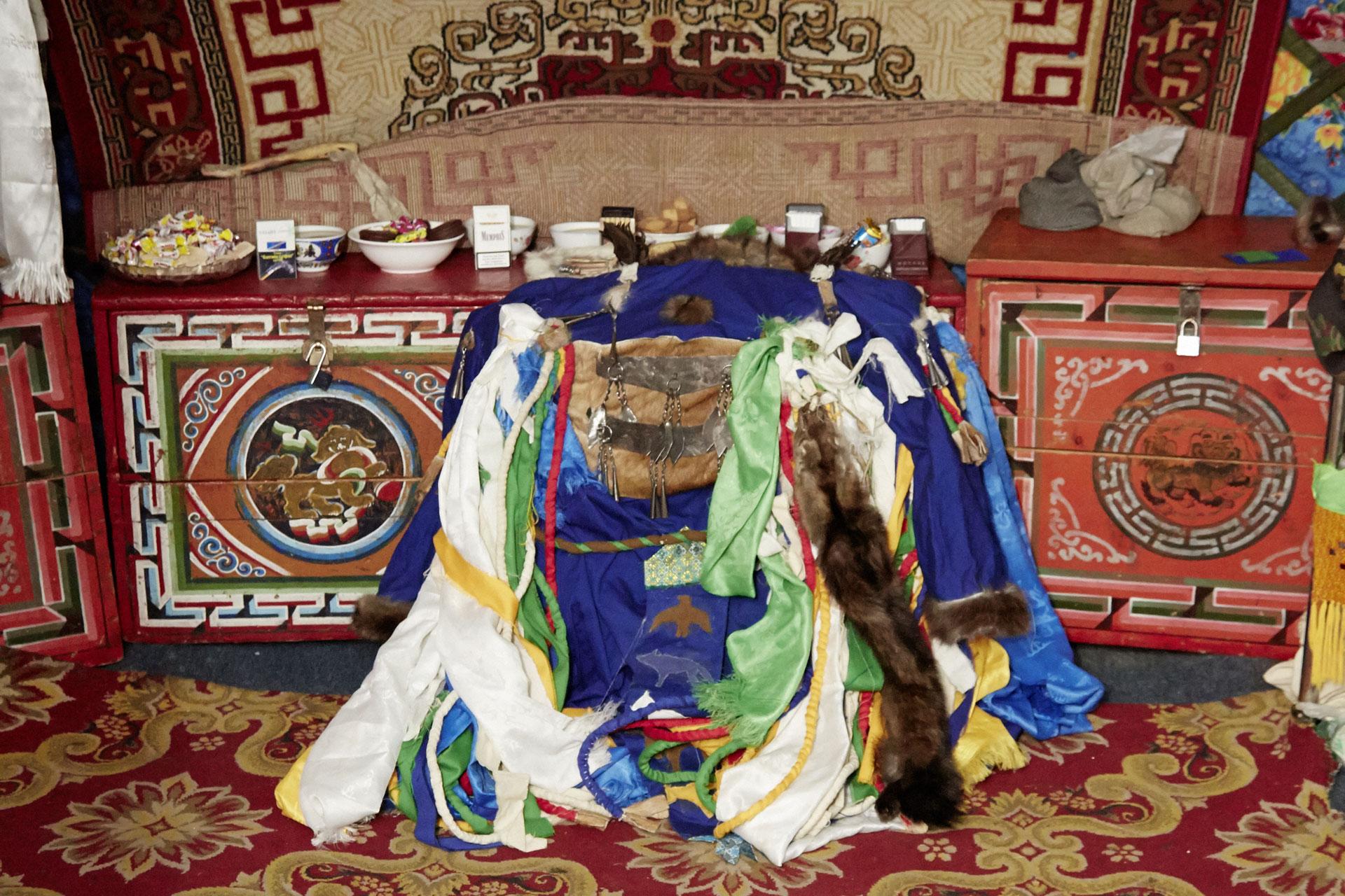 Mongolei Jurte Altar