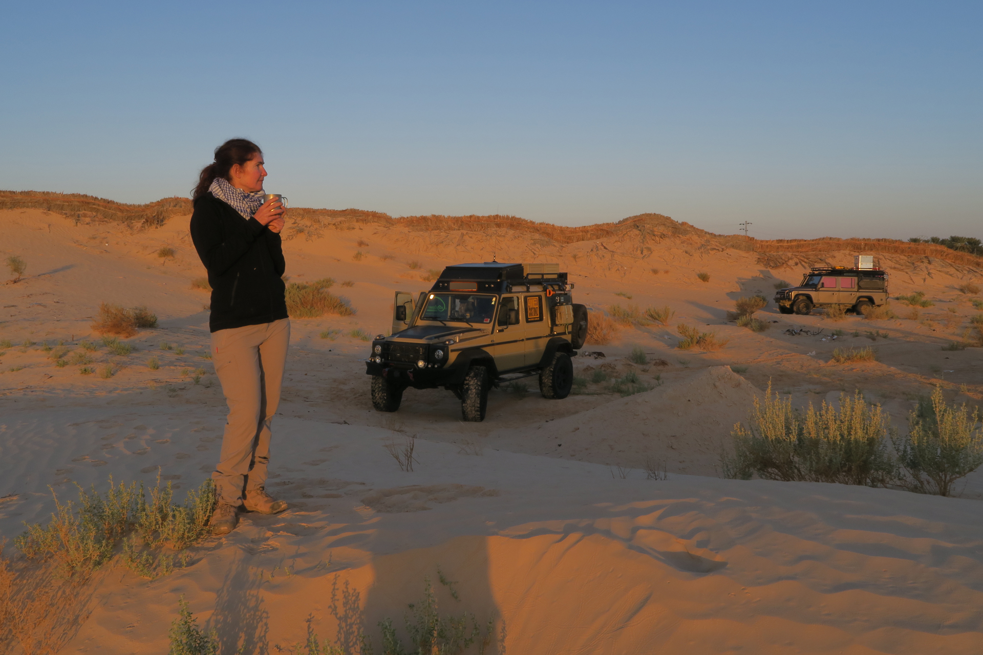 Erster Schlafplatz Wüste