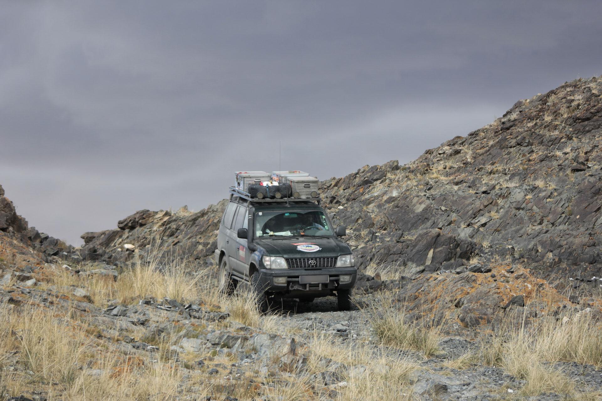 Piste durchs Altai-Gebirge