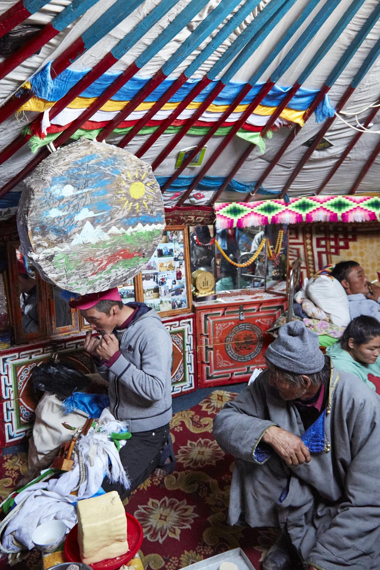 Mongolei Schamane