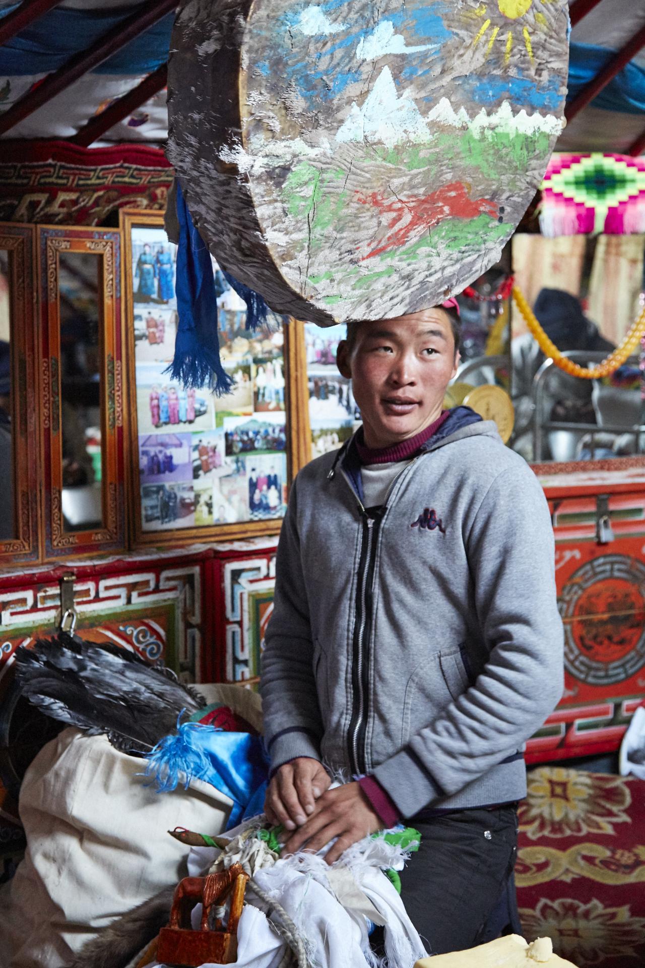 Schamane in der Mongolei