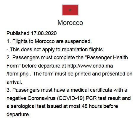 Beispiel Reisebeschränkungen