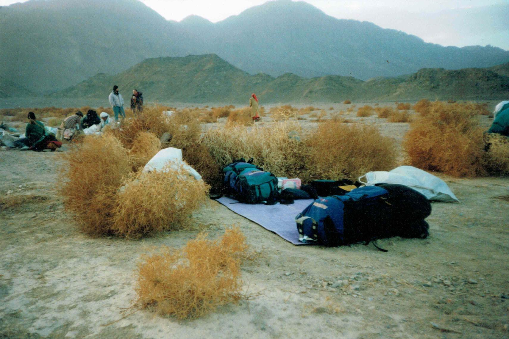 Schlafplatz bei der Karawane